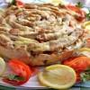 Мясной пирог «Чайная роза»