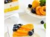 Торт с йогуртовым муссом, абрикосами и голубикой