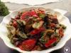 Тёплый салат из баклажанов с шампиньонами